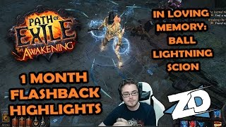 Path of Exile: Flashback Fun - In Loving Memory of the Ball Lightning Scion (Highlights)