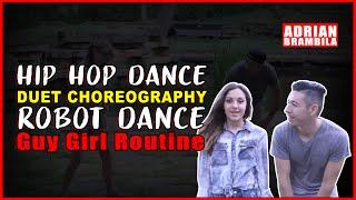 Hip Hop Dance Duet Choreography Robot Dance Guy Girl Routine