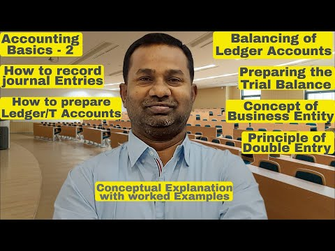ACCOUNTING BASICS 2 | Entries | Ledger Accounts | T Accounts | Trial Balance | Commerce Specialist |