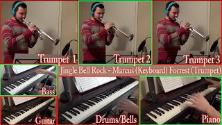Jingle Bell Rock - Bobby Helms (Piano, Trumpet, Guitar, Drums, Bass Cover)