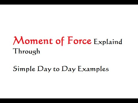 Moment of Force Explained through Day To Day examples