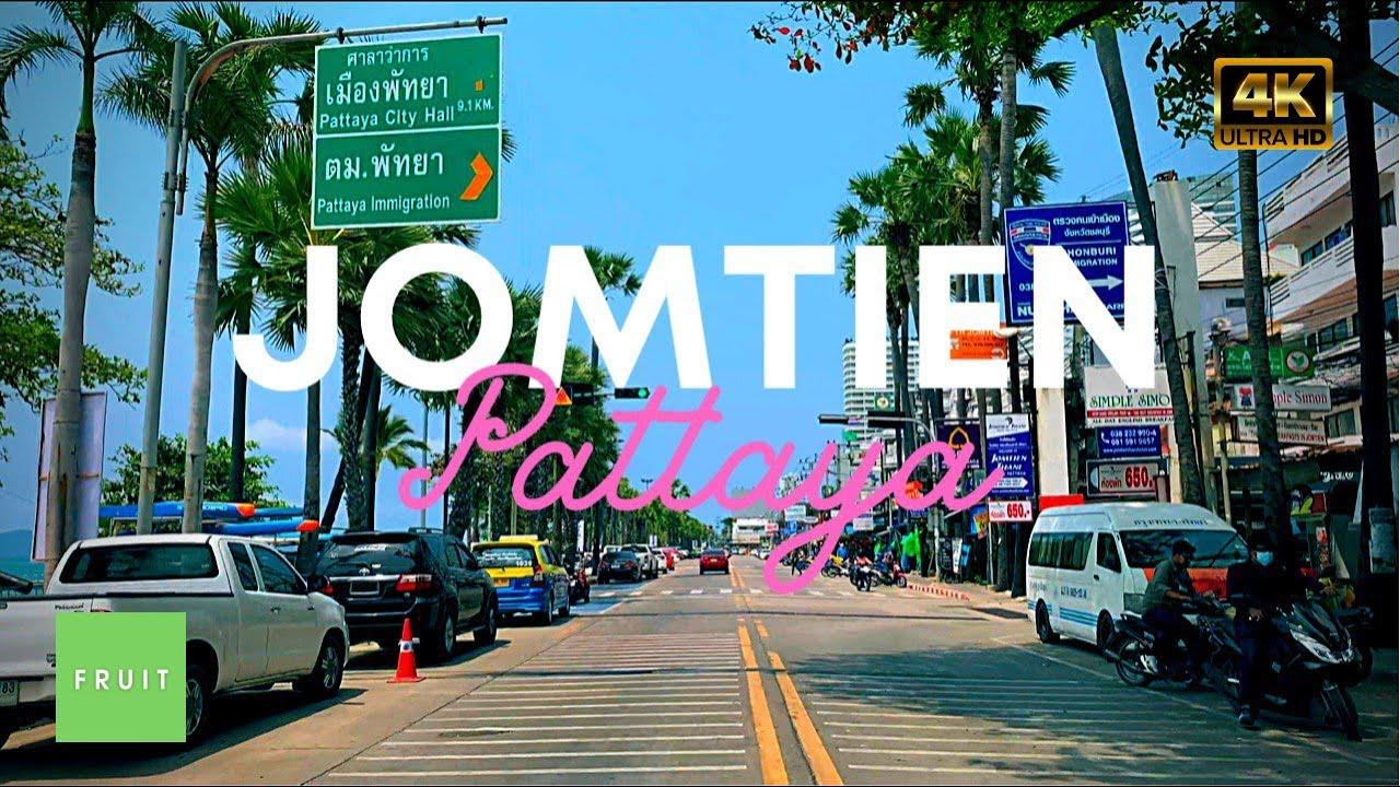 Pattaya Thailand 2021 Jomtien Beach 4k HDR video