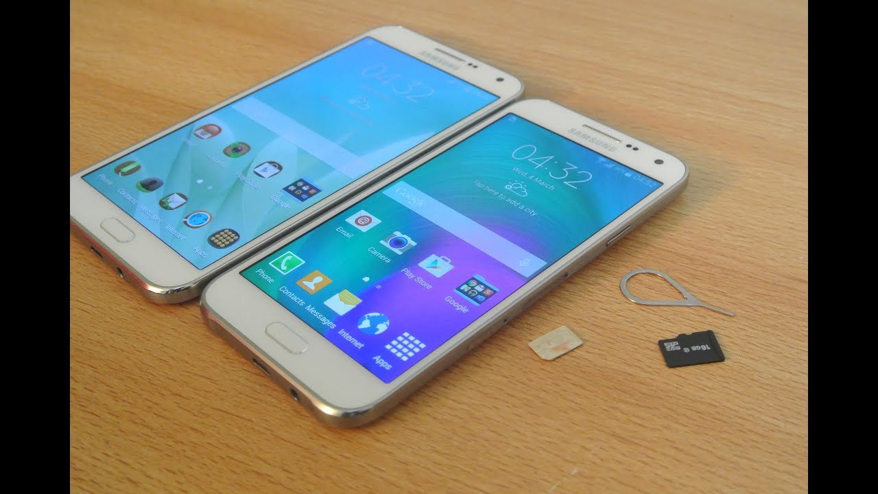 Samsung Galaxy E5 / E7 - How To Insert SIM Card & Micro SD Card HD ...