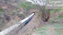Furious Chetak Express Entering in Rajasthan's Longest Rail Tunnel.