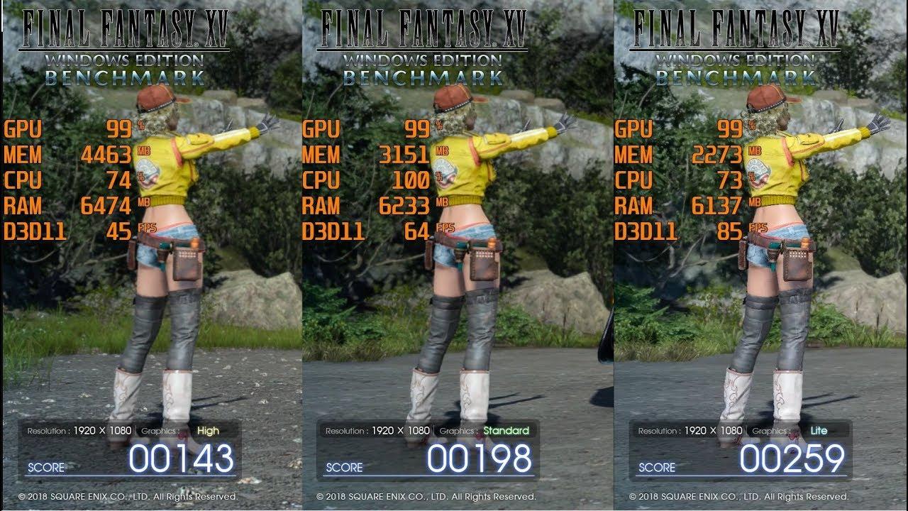 Xv windows ベンチマーク final fantasy edition