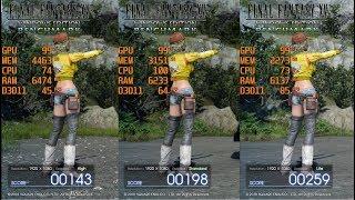Geforce gtx 1060 6gb amd ryzen 5 2600 final fantasy xv ff xv benchmark