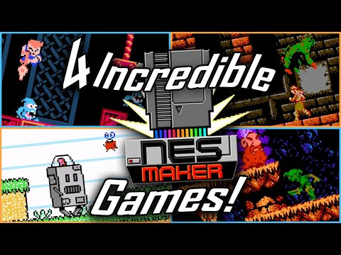 4 Incredibly Fun NESmaker Games! (The NES Game Maker)