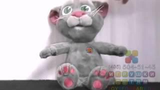 видео Интерактивная игрушка-повторюшка говорящий Кот Том (Talking Tom)