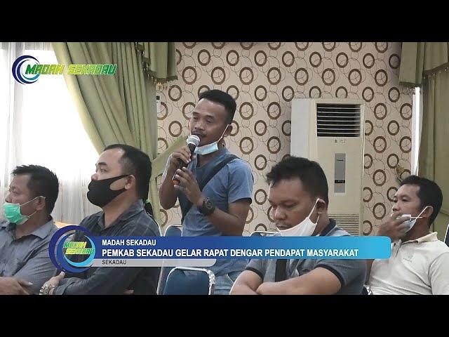 Pemkab Sekadau Gelar Rapat Dengar Pendapat dengan Masyarakat Kecamatan Belitang dan Belitang Hulu