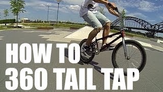 How to 360 tail tap on a BMX (Как сделать 360 тэйл теп) | Школа BMX Online #4