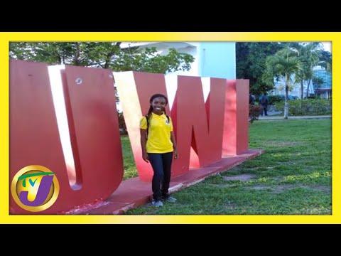 19yr Old Cops Seven Scholarships - Crystina Perkins   TVJ Smile Jamaica