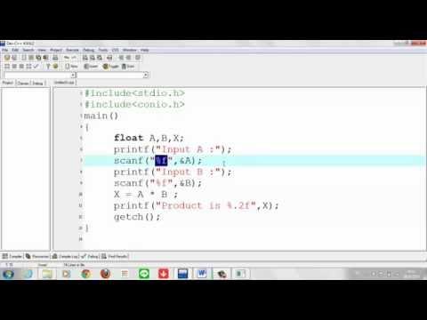 การเขียนภาษาซี Part 2: เขียนภาษาซี ด้วย Dev-C++