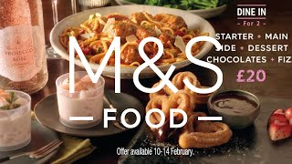2021 Valentine's Dine In For £20 | M&S FOOD