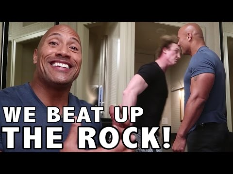 Thumbnail: WE TRIED TO BEAT UP THE ROCK! (w/ Dwayne Johnson)