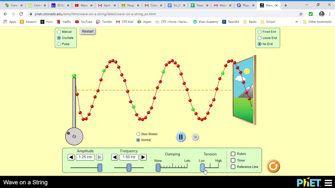 How to use the Wave on a String Phet simulation - YouTube