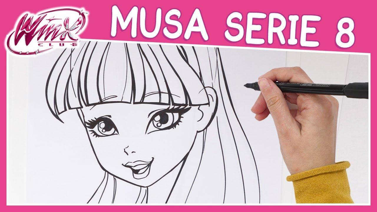 Winx Club Serie 8 Come Disegnare Musa Tutorial Youtube