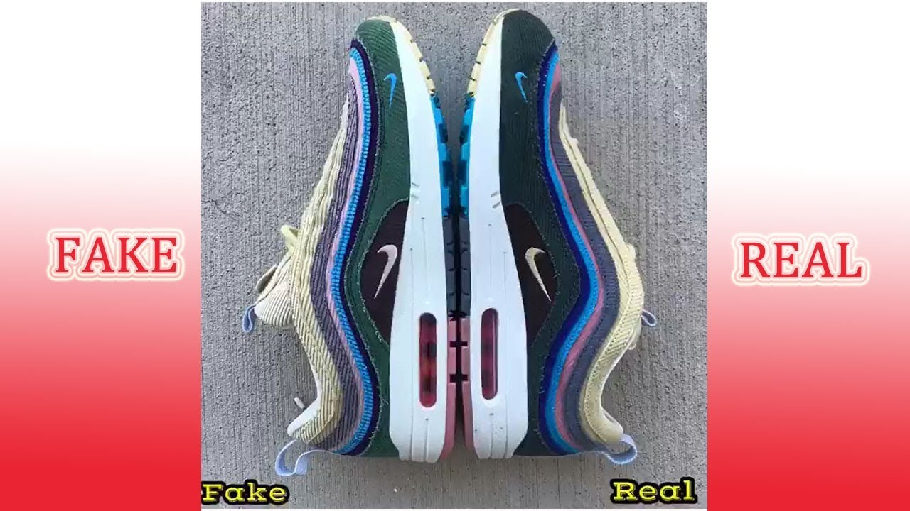 638bc3dfaac REAL VS FAKE Nike Air Max 197 VF SW Hybrid Sean Wotherspoon Comparison