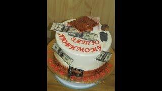 как Украсить Интересный Торт для Парня.Торт на День Рождение.Birthday cake-Yulia Klochkova