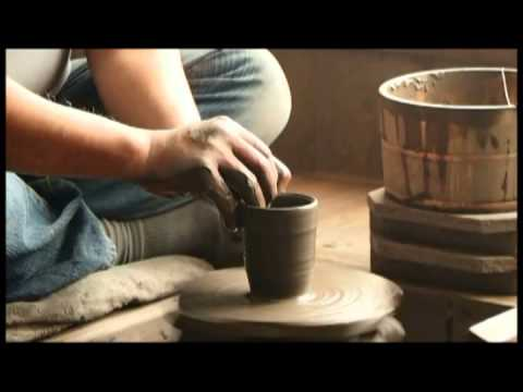 Japanese teacup, Bizen ware made by  potter's wheel with Shuzoh Ogawa in Japan 備前焼作家 小川秀藏 日本伝統工芸士 thumbnail