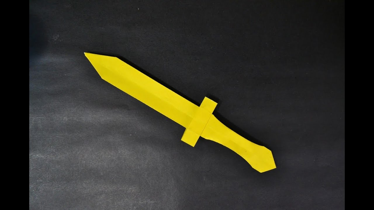 Origami: Sword - YouTube