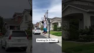 Dunking On 11 Feet!😱🔥 | #shorts