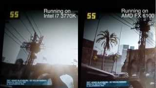 Intel VS AMD Gaming [Battlefield 3] [HD]