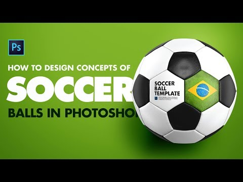 Design Soccer Ball / Football In Photoshop | Sports Mockup Template
