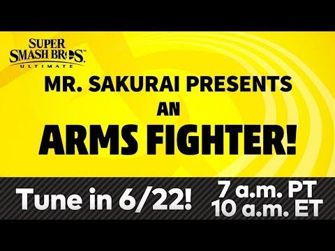 Mr. Sakurai Presents: AN ARMS FIGHTER   Super Smash Bros Ultimate DLC