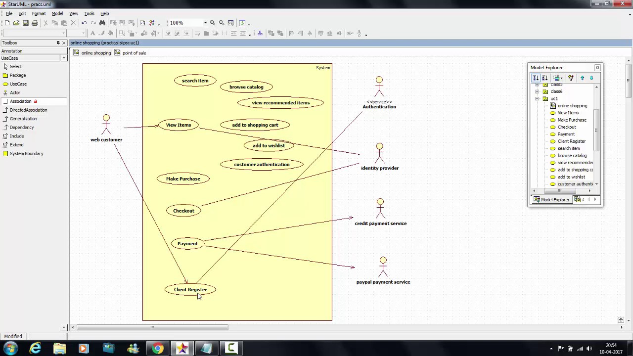 tutorial 7 online shopping use case diagram [ 1280 x 720 Pixel ]