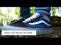 """Vans Old Skool """"Navy blue'' On-feet"""