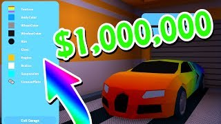 MAXING OUT THE BUGATTI ON ROBLOX JAILBREAK ($1,000,000 SPENT)