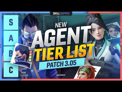 NEW Agent Tier List Patch 3.05 - Valorant Agent Meta