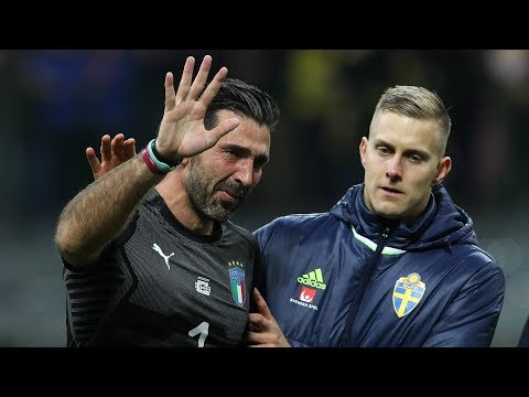 Gianluigi Buffon Crying after defeat against sweden