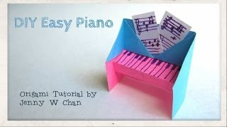 DIY Easy Piano Origami Tutorial & Instructions - Paper Crafts Handmade Gift Idea