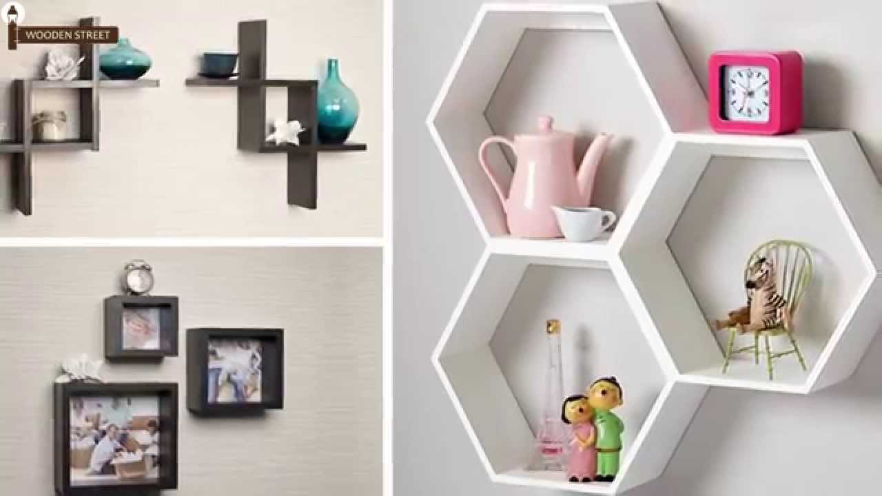 Wall Shelves   Buy Wooden Wall Shelves Online In India @ Wooden Street    YouTube