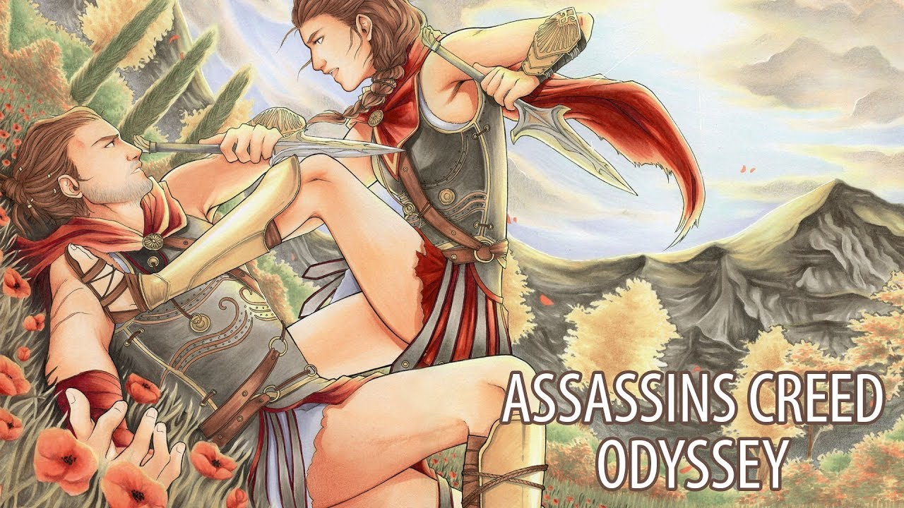 Alexios Kassandra Assassin S Creed Odyssey Copic Marker