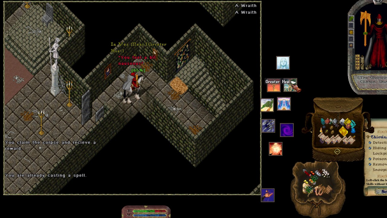Covetous Dungeon Lich and Dragon room walkthrough [Ultima Online Evolution]