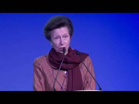 HRH The Princess Royal at the Microlise Transport Conference