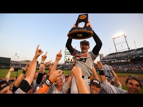 Sweeping up in Omaha after Oregon State's third national baseball championship