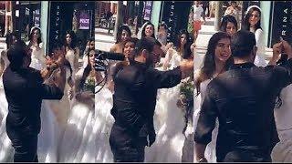 وسام كاظم الساهر يعلق على وجود القيصر وسط العرائس خلال التصوير الجديد لـ قولي أحبك مع هشام الهويش ~