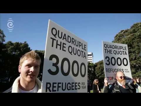 Demonstrators call for NZ to lift refugee quota to match Australia