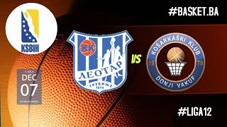 LIVE KK Leotar vs KK Promo Donji Vakuf  ◙ LIGA 12 KSBIH ◙ 9 KOLO ◙ 2019/2020