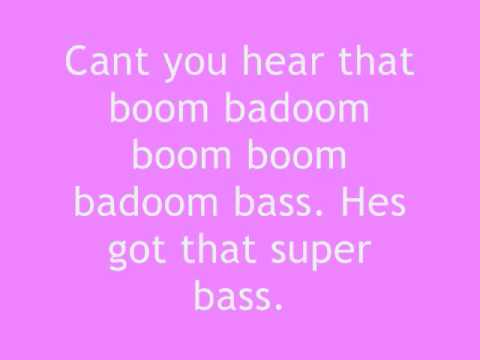 Nicki Minaj  Super Bass lyrics