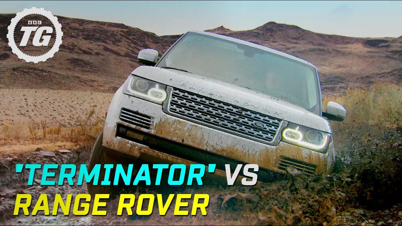 "Terminator"" Vs Range Rover TerraMax Top Gear Series 19 BBC"