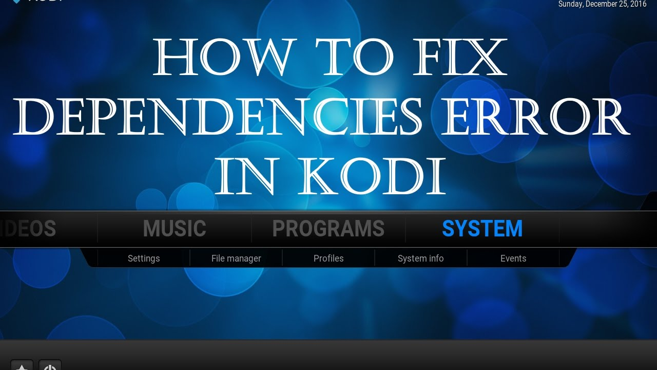 How to fix failed to install a Dependency error 2019