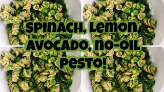 Easy Pesto! Spinach Lemon Avocado No Oil Pesto! {#pestoisthebesto}