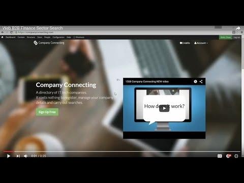 Web B2B Finance Sector Search