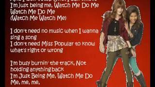 Bella Thorne & Zendaya Coleman - Watch Me (Lyrics) [Shake it Up]