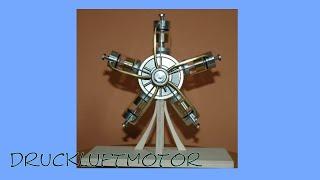 2009-03-11 Druckluft 1- 5-Zylinder Sternmotor, Druckluftmotor