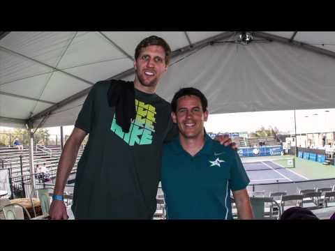 2014 Irving Tennis Classic - Steve Johnson on Dirk Nowitzki